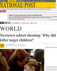Newtown school shooting Why did the killer target: National Post