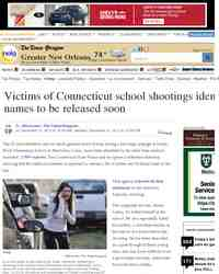 Victims of Connecticut school shootings identified names to: nola.com