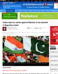 Indian team for series against Pakistan to be: Cricket Country