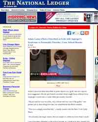Adam Lanza Photo Described as Goth with Asperger: The National Ledger
